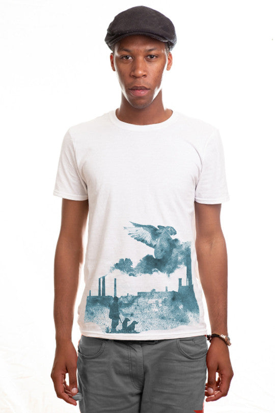 rabbit-abstract t shirt men