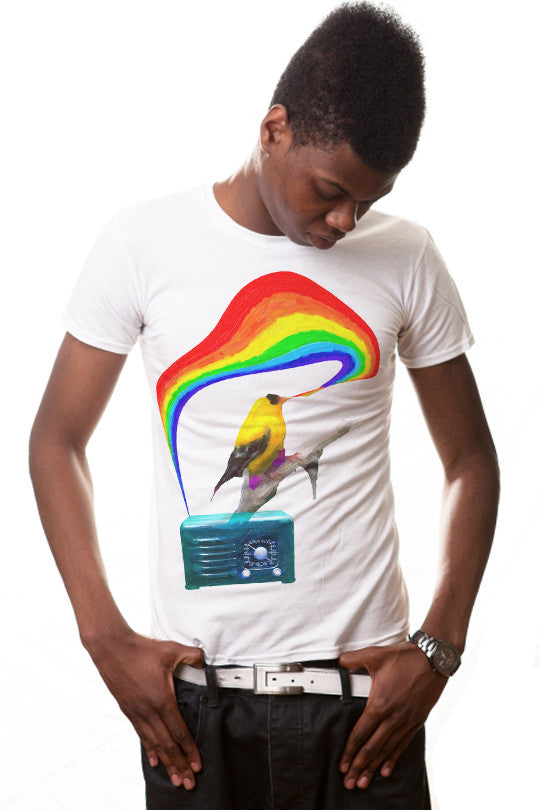 rainbow-radio music t shirt men