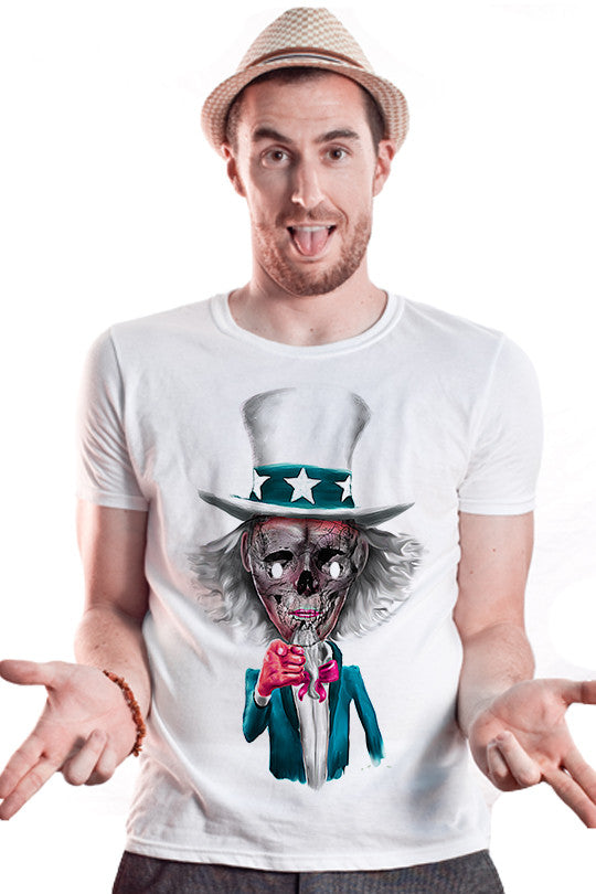 uncle-sam zombie tee men