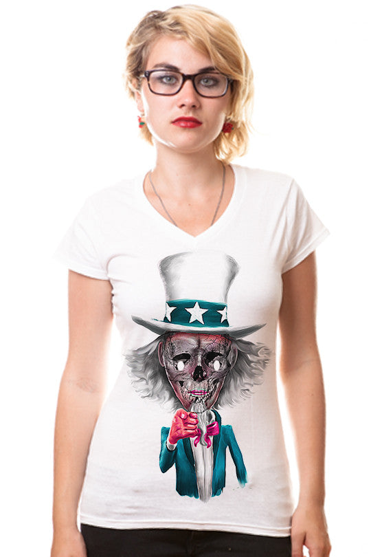 uncle-sam zombie tee women