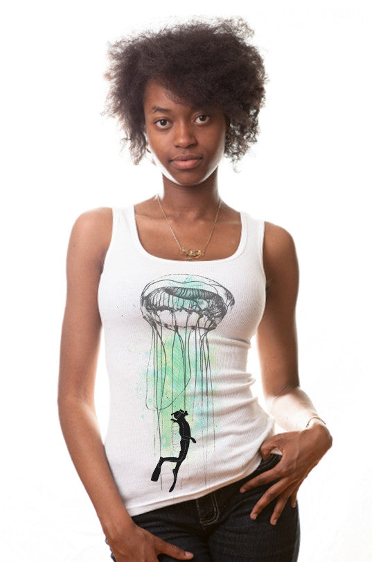 Strange Attractions  Abstract Tank Top women