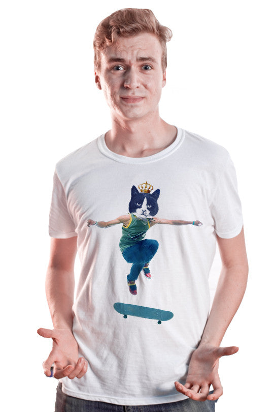 crazy cat t shirt men
