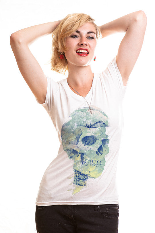 deadly-sky skull t shirt women