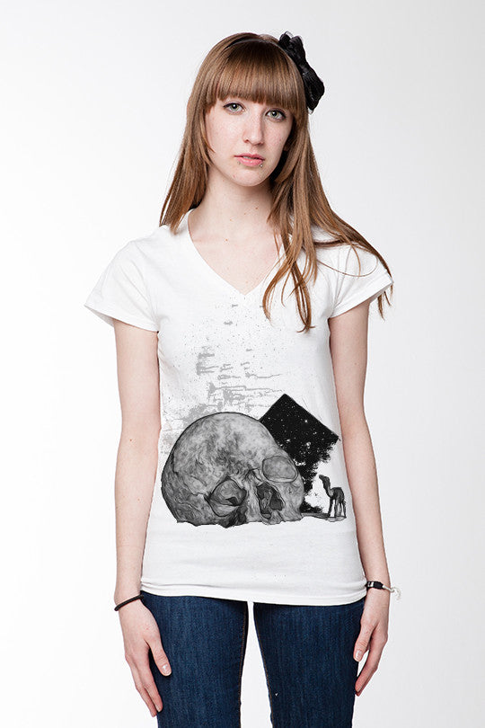 Skull Mirage Graphic T-Shirt women