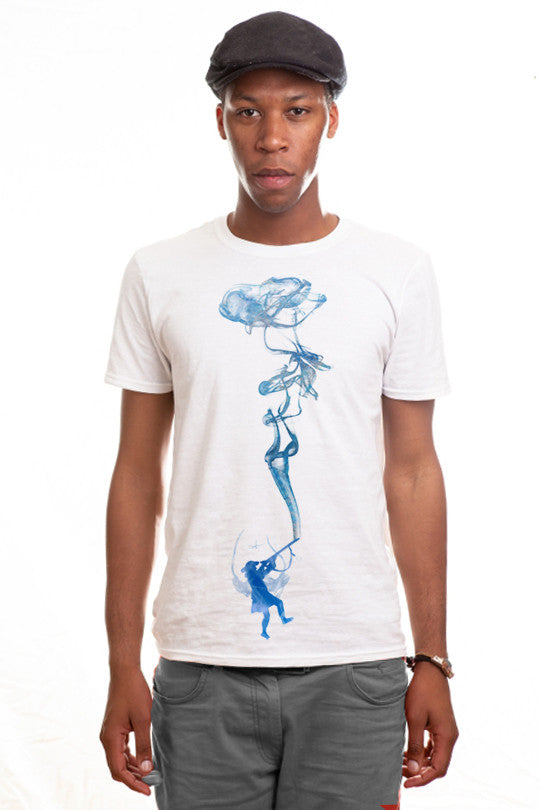smoking-water abstract graphic tee