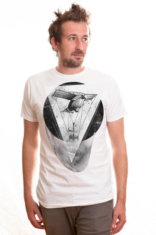 space-time-aviation space graphic tee men