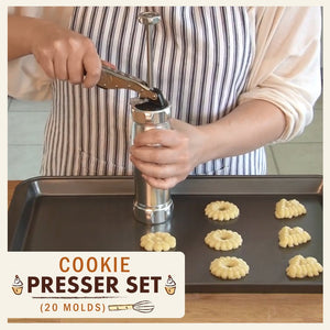 Cookie Presser Set (20 Molds)