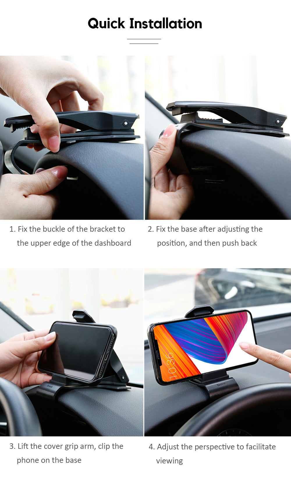 360° Car Phone Clip Holder
