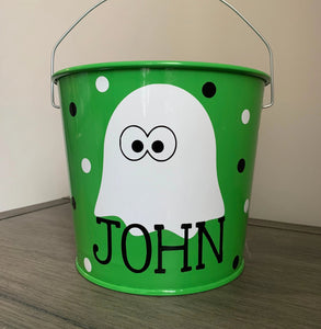 Ghost Halloween Bucket