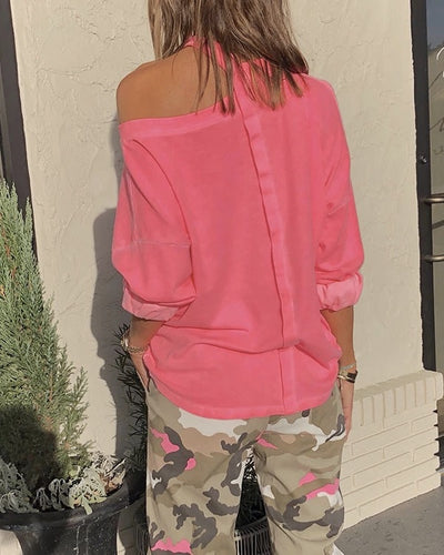 [Last day promotion, 50% OFF] NEON CUT OUT SWEATSHIRT - worthbuyonline