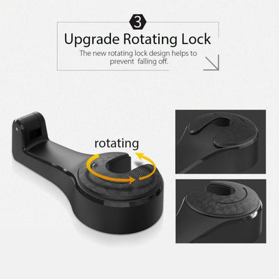 [Hot Sale, 50% OFF]Car Seat Rear Hook with Mobile Phone Holder