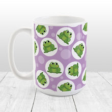 Load image into Gallery viewer, Cute Frog Pattern Purple Mug at Amy's Coffee Mugs