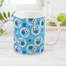 Load image into Gallery viewer, Blue Owl Mug - Funny Cute Blue Owl Pattern Mug at Amy's Coffee Mugs