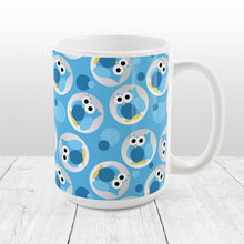 Load image into Gallery viewer, Funny Cute Blue Owl Pattern Mug at Amy's Coffee Mugs