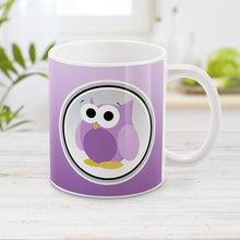 Load image into Gallery viewer, Purple Owl Mug - Funny Cute Purple Owl Mug at Amy's Coffee Mugs