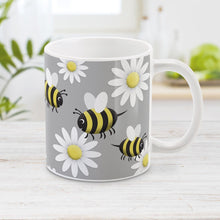 Load image into Gallery viewer, Happy Bee and Daisy Pattern Mug at Amy's Coffee Mugs
