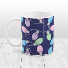 Load image into Gallery viewer, Holiday Lights Pattern Christmas Mug at Amy's Coffee Mugs