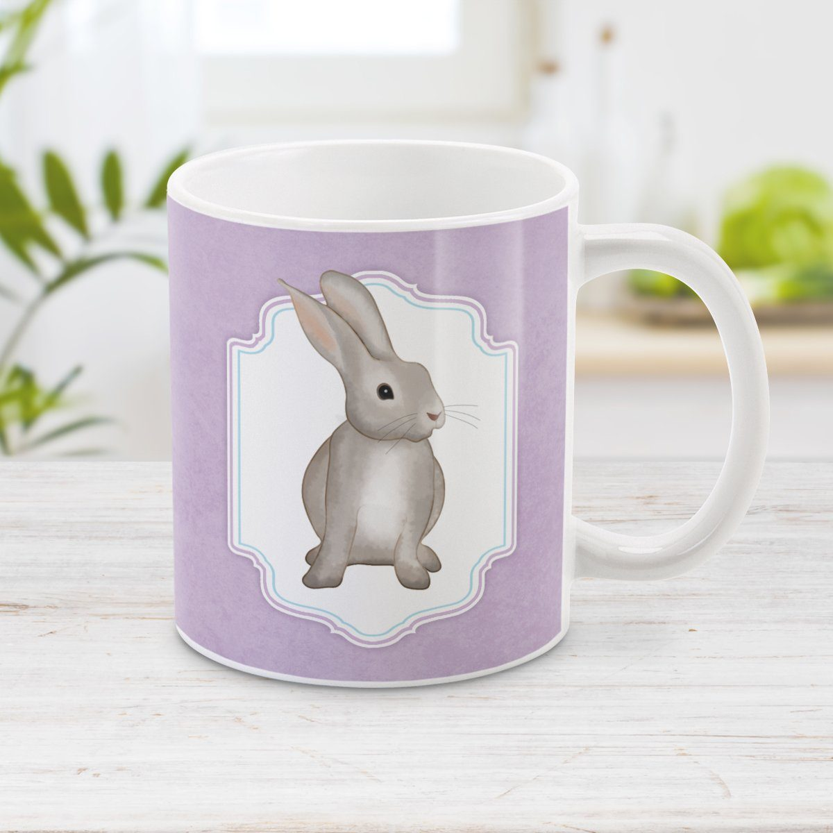 Rustic Purple Rabbit Mug at Amy's Coffee Mug