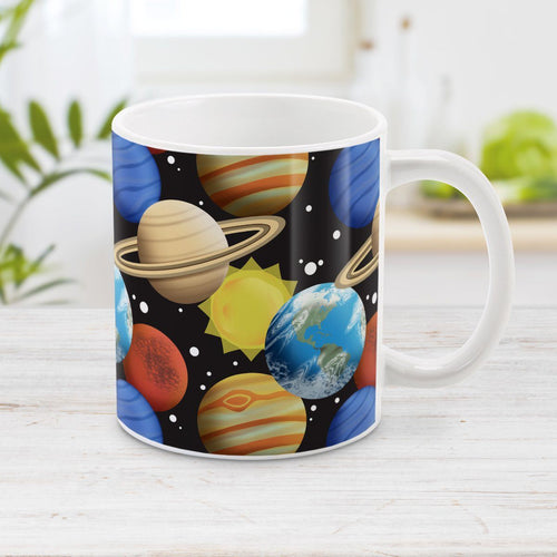 Space Planets Pattern - Space Mug at Amy's Coffee Mugs