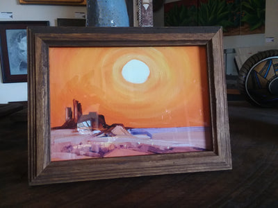 Hugh Cabot Desert Mirage© 16x20 Giclee Unframed or 5X7 Framed Miniature