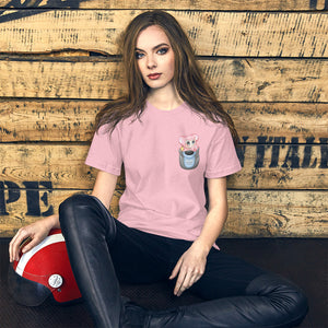 Monkey Bubble | Light Pink Pocket Monkey T-shirt
