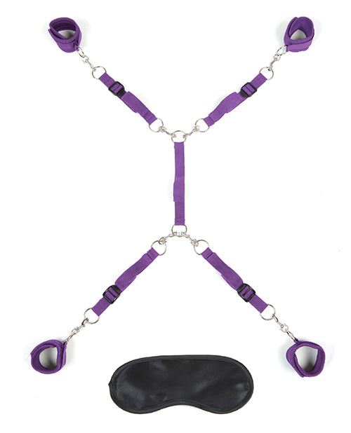 Lux Fetish Bed Spreader - Purple