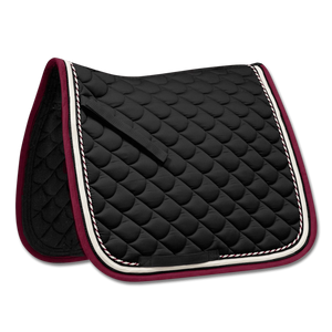 Waldhausen - All Purpose Saddle Pad Rom - Black/Wine