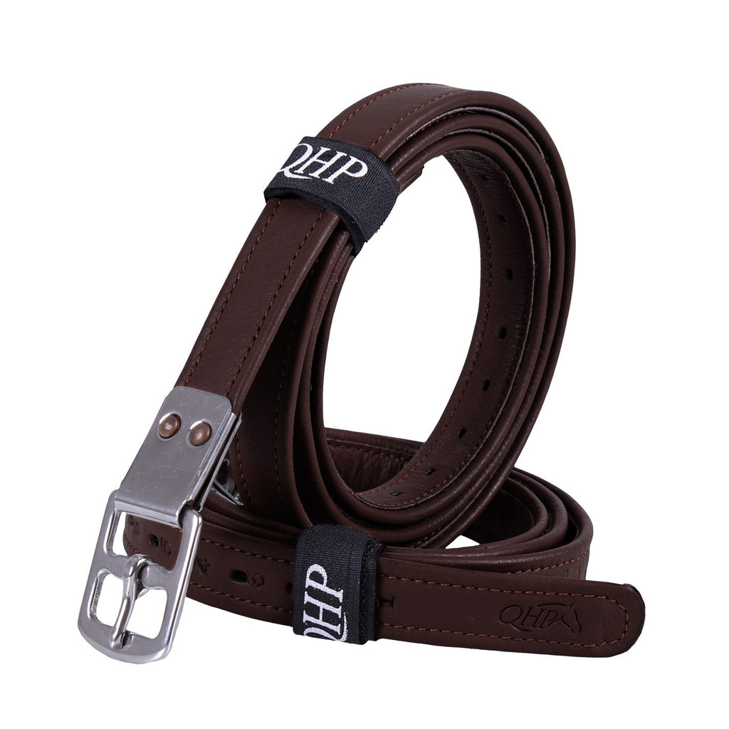 QHP - Ultra Strong Stirrup Leathers - Dark Brown