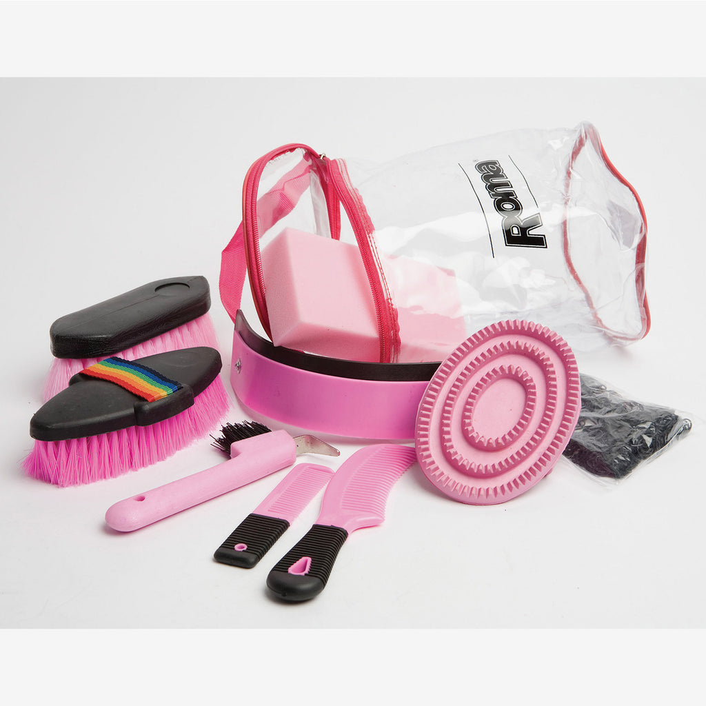 Roma - Backpack Grooming Kit 9 Piece - Pink