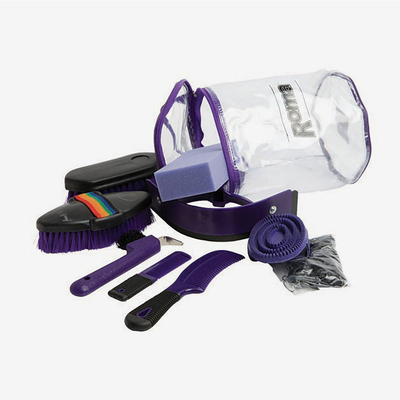 Roma - Backpack Grooming Kit 9 Piece - Purple