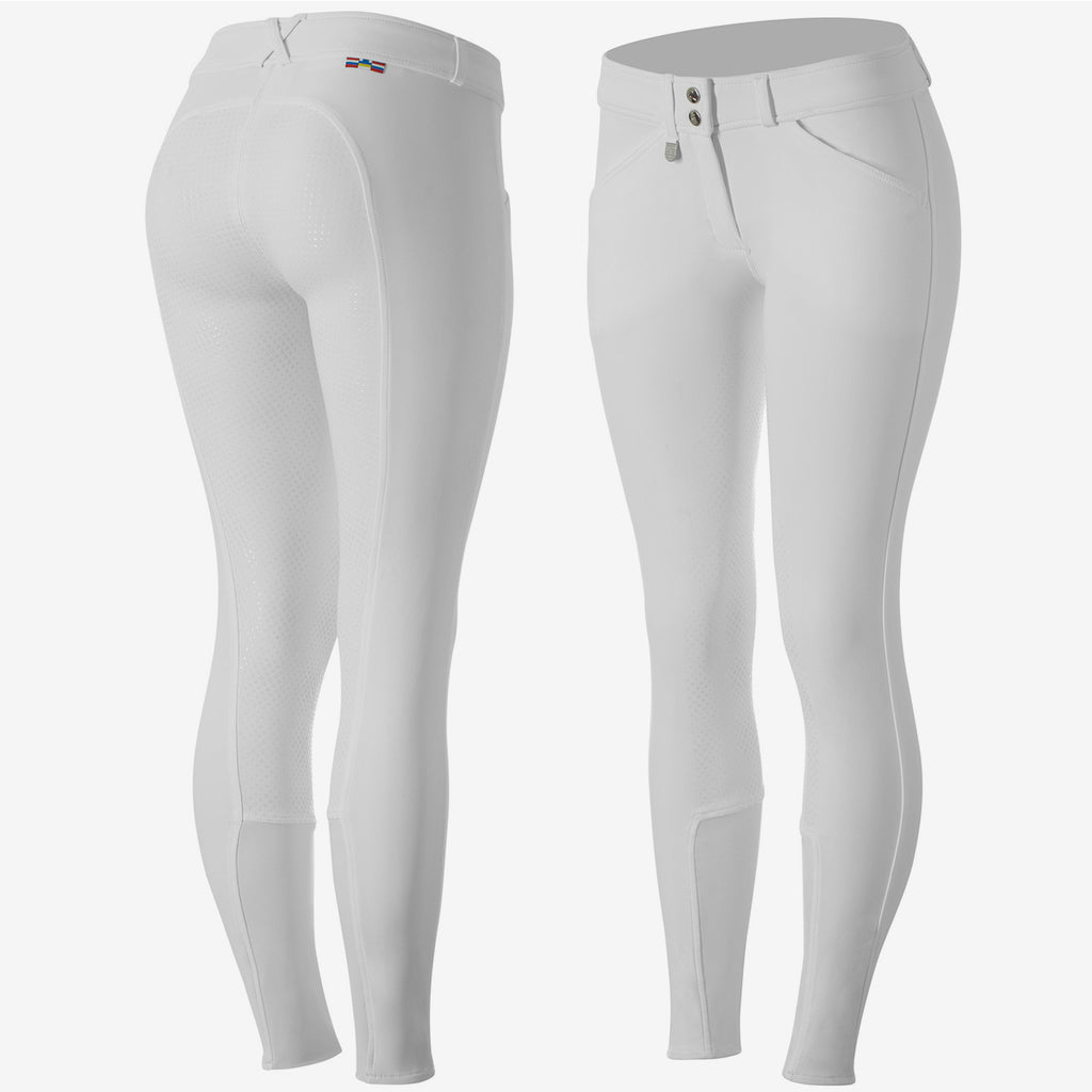 Grand Prix Women's Full Seat Breeches - White