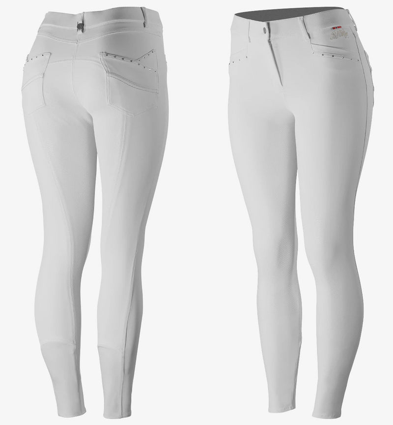 B Vertigo - Olivia Women's Silicone Full Seat Breeches - White