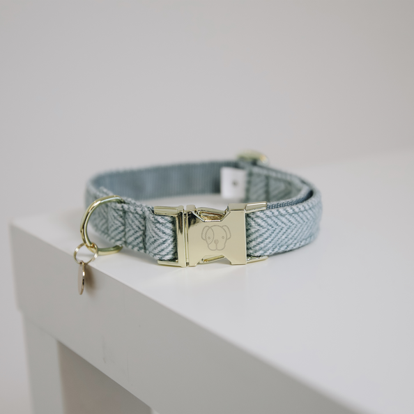 Kentucky - Dog Collar Wool - Baby Blue
