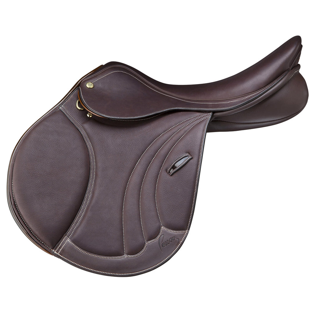 Pessoa - Tomboy Covered Leather Saddle - Dark Brown 17""