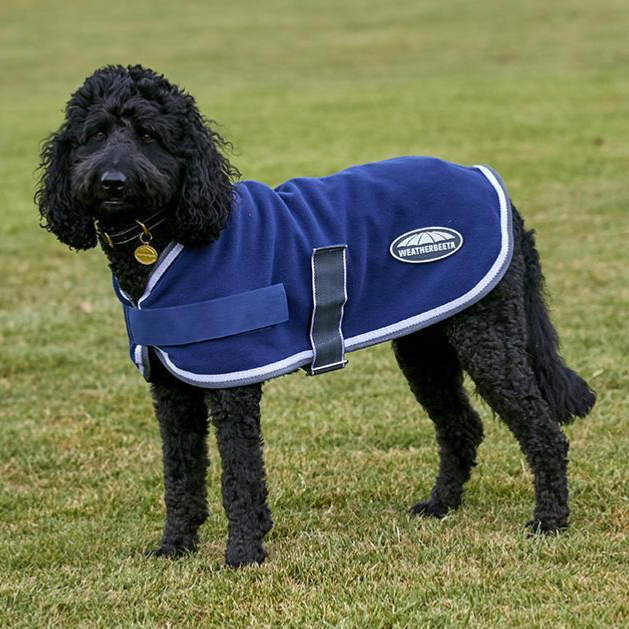 Weatherbeeta - Fleece Dog Coat - Navy/Grey/White