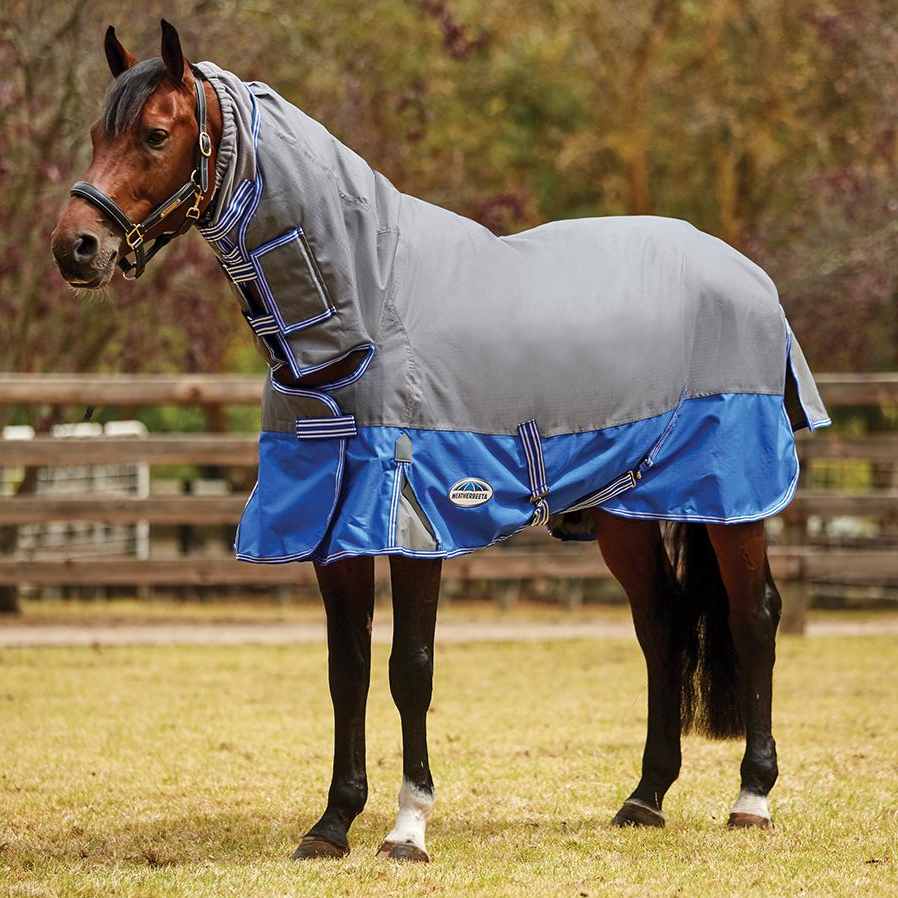 Weatherbeeta - ComFiTec Premier Free Mane Shield Combo Medium Grey/Blue - 220g (2021)