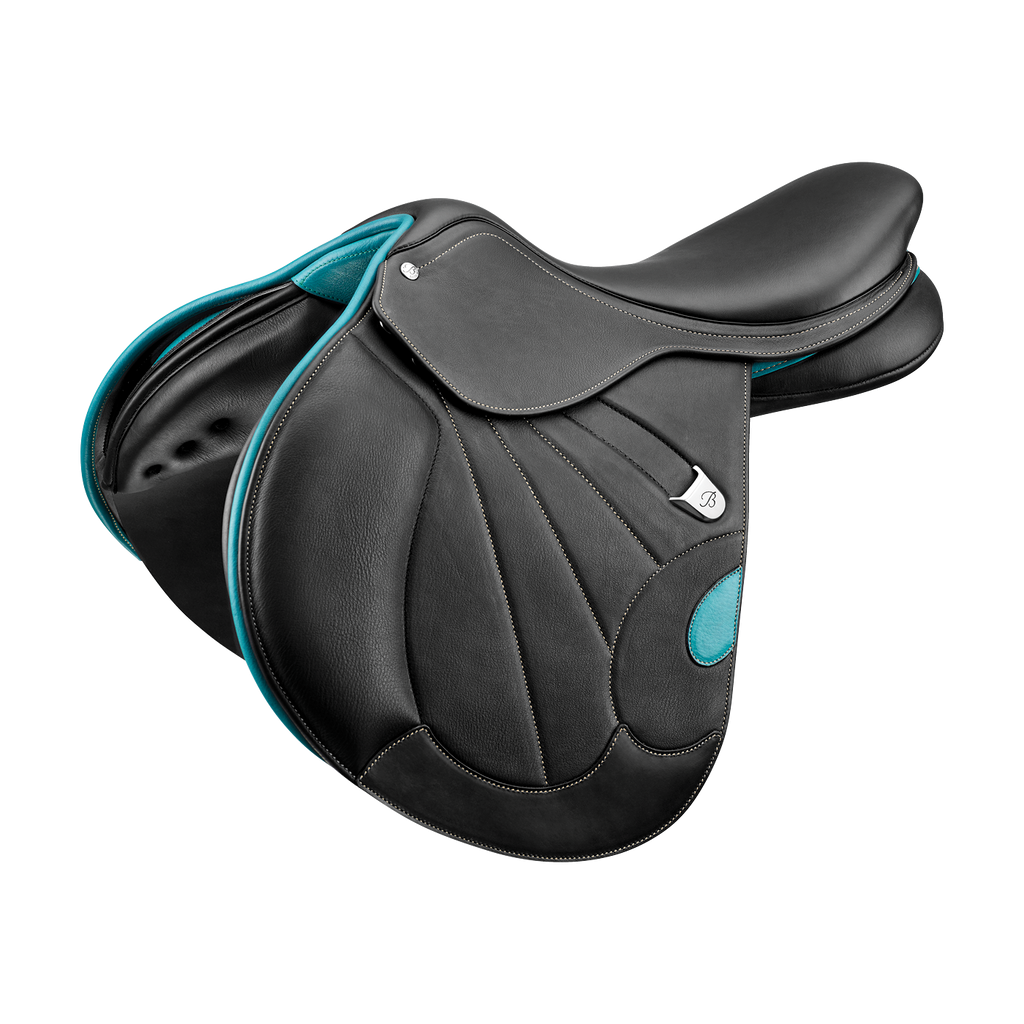 Bates - Victrix Jump Saddle - Black/Aqua