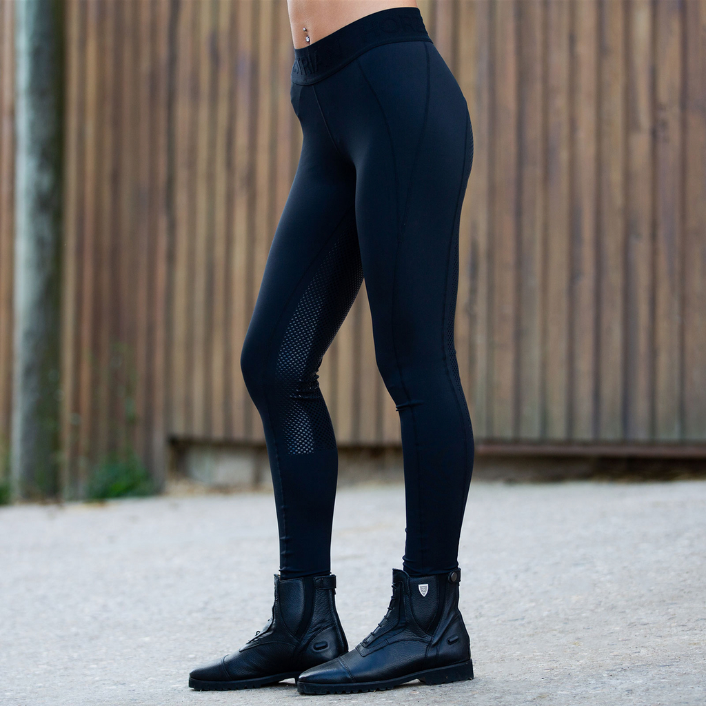 Horze - Madison Women's Silicone F/S Tights - Black