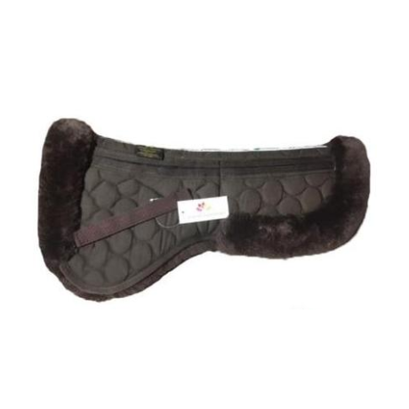 Carousel Equestrian - Sheepskin Dressage Halfpad - Brown
