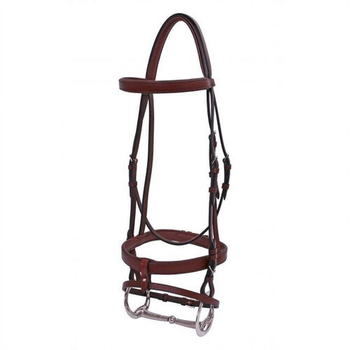 Flat Padded Hanoverian Bridle - Brown
