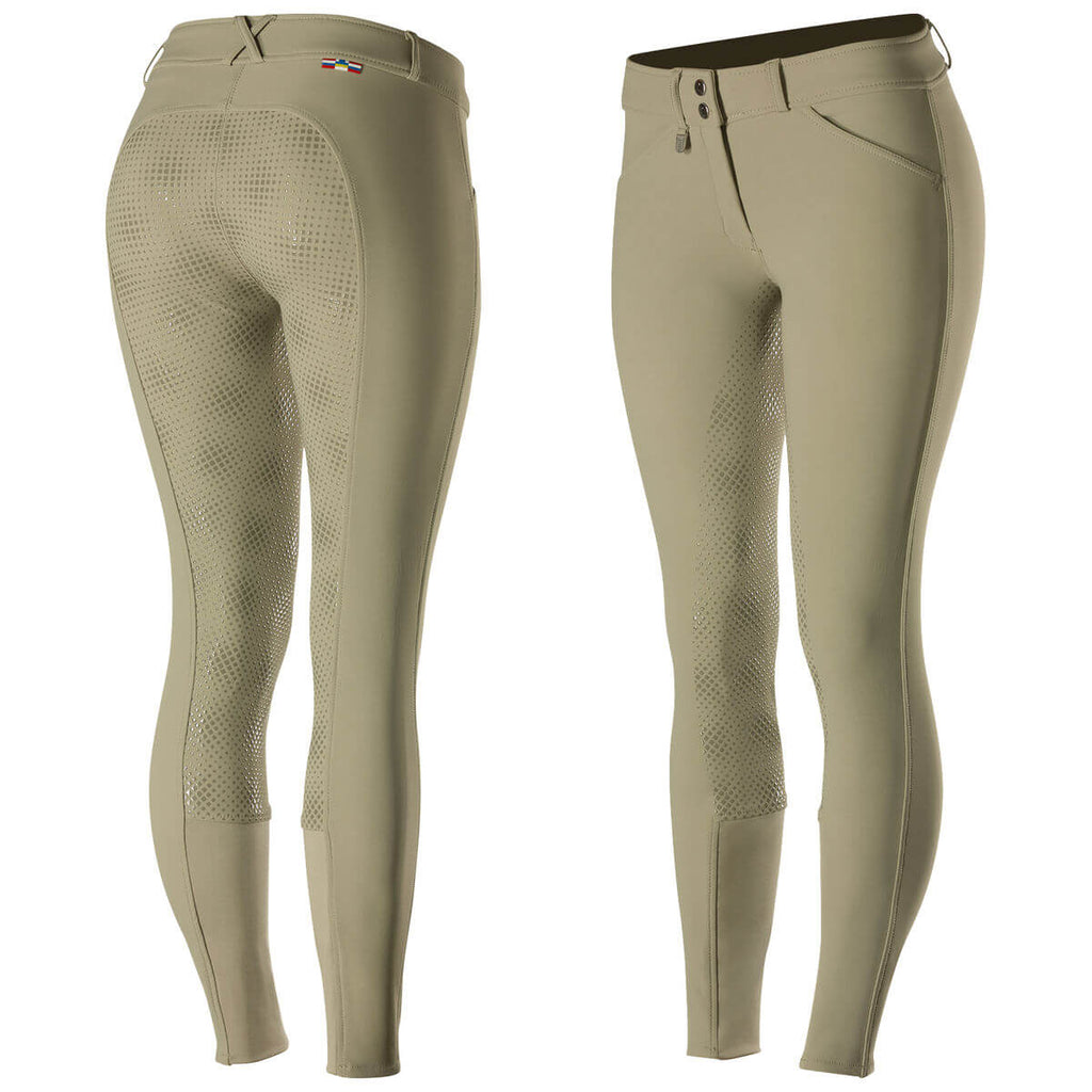 Grand Prix Women's Full Seat Breeches - Beige