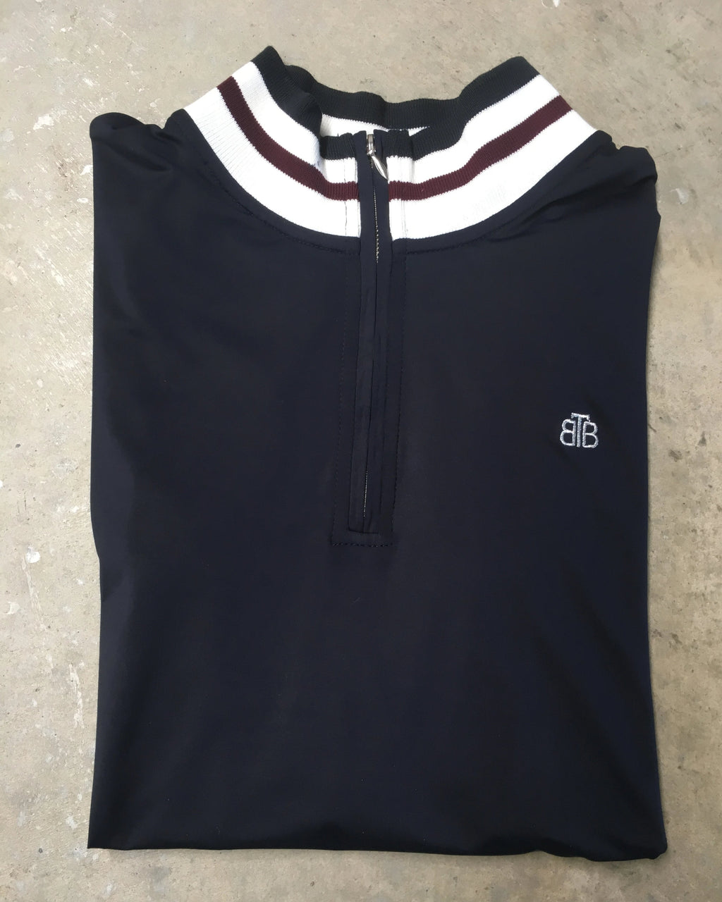 Long Sleeve Zip Front Training Top - Navy