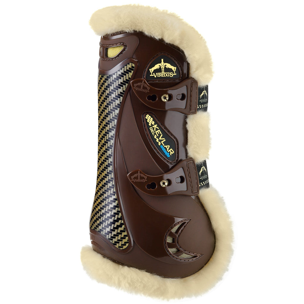 Veredus STS Kevlar Gel Vento Tendon Boots - Brown