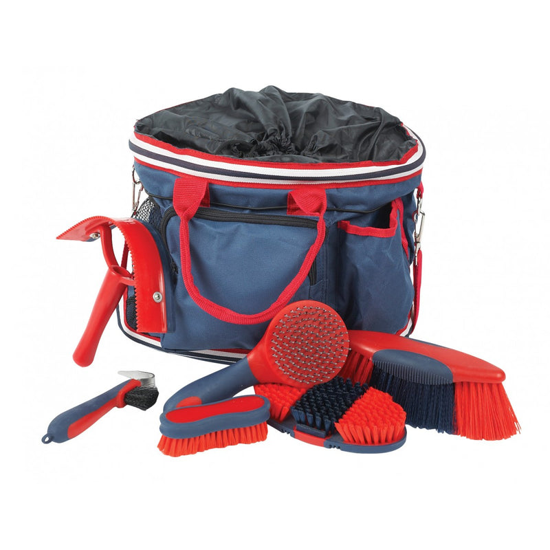 Roma - Deluxe Grooming Kit 6 piece - Navy/Red