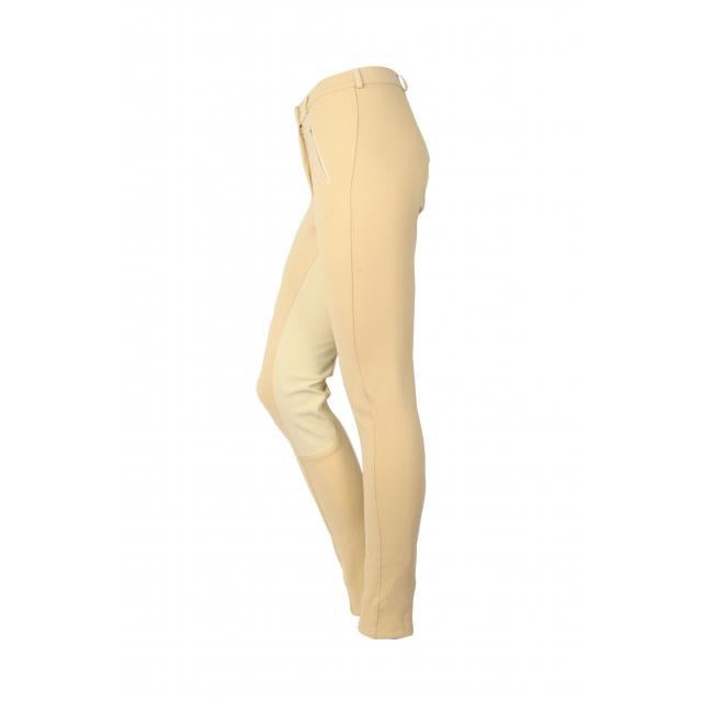 Saxon - Ladies Full Seat Cotton Jodhpurs - Beige