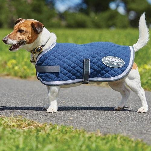 Quilted Dog Rug - Navy/Grey/White