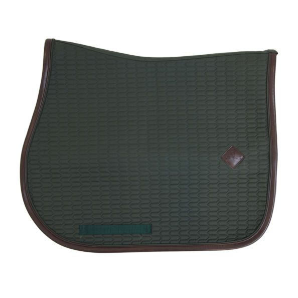 Kentucky - Colour Edition Leather Jump Saddle Pad - Olive