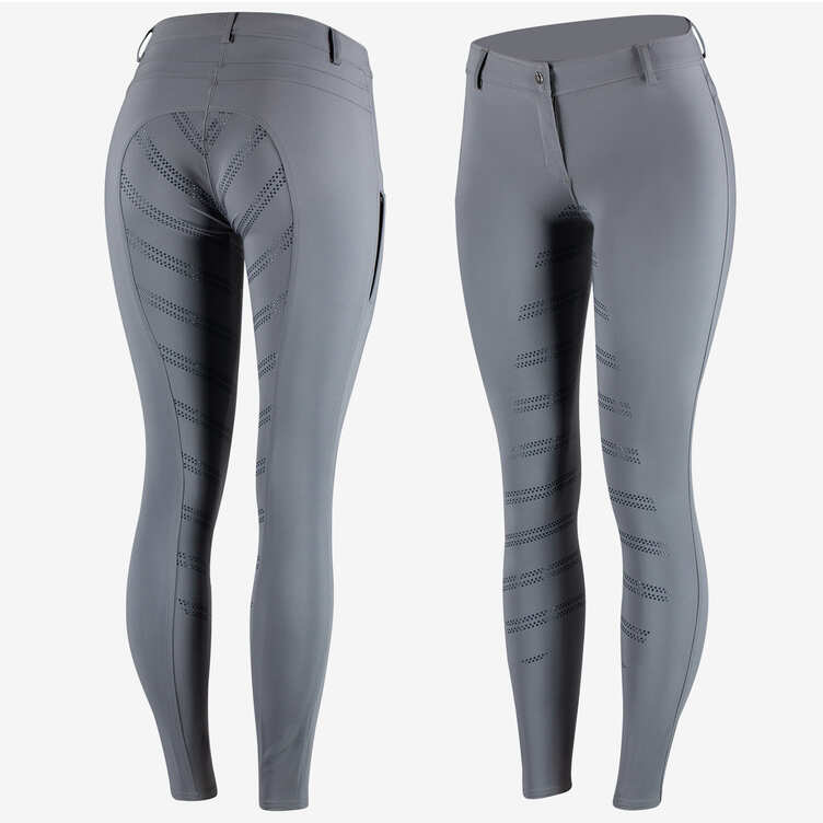 Horze - Ada F/S Silicone Breeches - Castle Rock Dark Grey