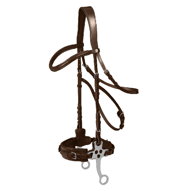 Waldhausen - Supersoft X-Line Hackamore Bridle - Brown