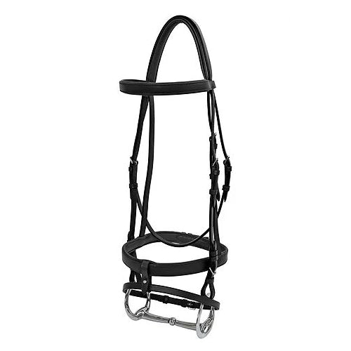 Platinum - Flat Padded Hanoverian Bridle - Black